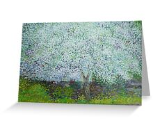 Blossoming apple tree Greeting Card