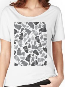 50 Shades of Grey Daleks - Doctor Who - DALEK Camouflage Women's Relaxed Fit T-Shirt