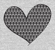 221B Wallpaper Heart One Piece - Long Sleeve