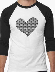 221B Wallpaper Heart Men's Baseball ¾ T-Shirt