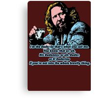 The Big lebowski and the philosophy 2 Canvas Print