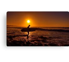 """Dawn Surfer"" Canvas Print"
