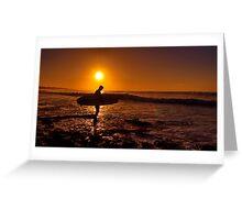 """""""Dawn Surfer"""" Greeting Card"""
