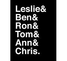 Leslie & Ben & Ron & Tom & Ann & Chris. (Parks & Rec) (Inverse) Photographic Print