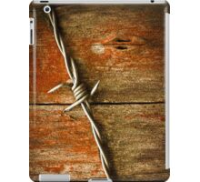 Barbed Wire on Wood iPad Case/Skin