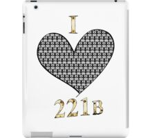 I ♥ 221B iPad Case/Skin