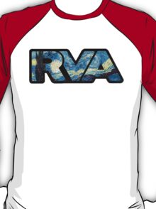 rva - starry night by van gogh T-Shirt