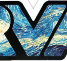 rva - starry night by van gogh Sticker