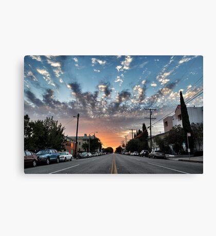Broadway Blvd Sunrise Canvas Print
