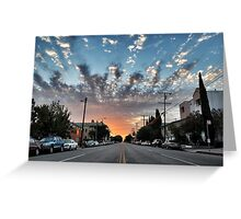 Broadway Blvd Sunrise Greeting Card