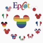 Epcot Mickey Ear Flags With Rainbow by instinCKt