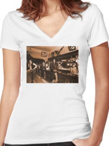 Space Cowboys Women's Fitted V-Neck T-Shirt