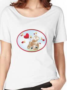 Teddy with hearts and bees  Women's Relaxed Fit T-Shirt