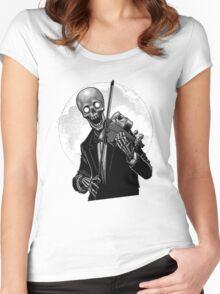 Dark Skeleton Violinist Women's Fitted Scoop T-Shirt