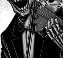 Dark Skeleton Violinist Sticker