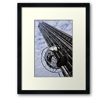 Silver and Blue Planet Earth Framed Print