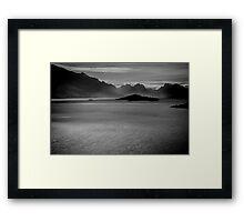 Lake Wakatipu B&W Framed Print