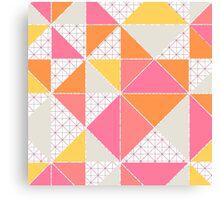 Girly Geometry Canvas Print