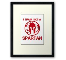 I TRAIN LIKE A SPARTAN Framed Print