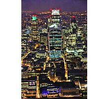 City of London Skyline at Night Photographic Print