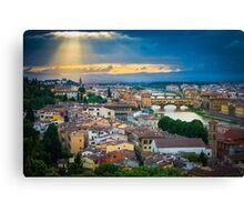 Firenze Sunset Canvas Print