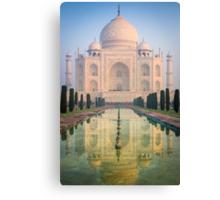 Taj Mahal Dawn Reflection Canvas Print