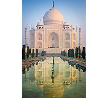 Taj Mahal Dawn Reflection Photographic Print