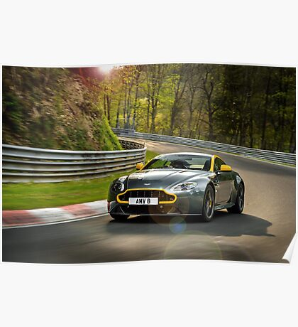 The new Aston Martin N430 testing at the Nurburgring in Germany ... Poster