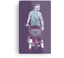 Low Ride Skull WithTattoo Metal Print