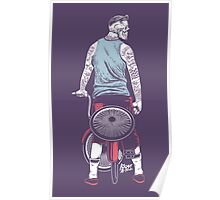Low Ride Skull WithTattoo Poster