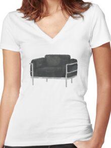 Sherlock's Chair Women's Fitted V-Neck T-Shirt