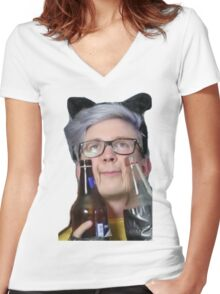 intoxicated tyler Women's Fitted V-Neck T-Shirt