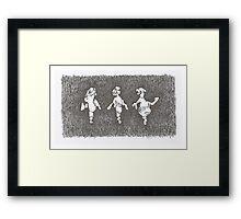 'Gene Kelly, Ginger Rogers, Fred Astaire' Framed Print
