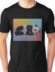 Baby Panda Rainbow Unisex T-Shirt