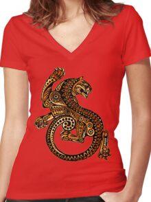 Jaguar Women's Fitted V-Neck T-Shirt