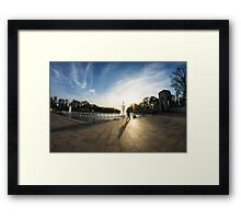 WWII Memorial at Dusk Framed Print