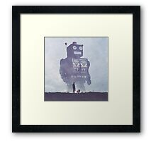 BEWARE THE GIANT ROBOTS! Framed Print