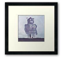 BEWARE THE GIANT ROBOTS! Framed Print
