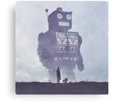 BEWARE THE GIANT ROBOTS! Canvas Print