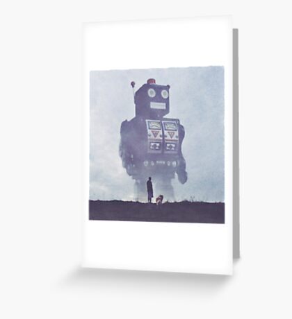 BEWARE THE GIANT ROBOTS! Greeting Card