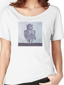 BEWARE THE GIANT ROBOTS! Women's Relaxed Fit T-Shirt