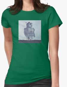BEWARE THE GIANT ROBOTS! Womens Fitted T-Shirt