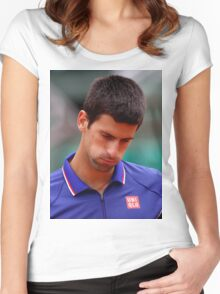 Novak Djokovic Women's Fitted Scoop T-Shirt