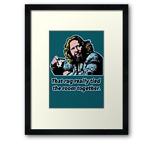 Big Lebowki Philosophy 3 Framed Print