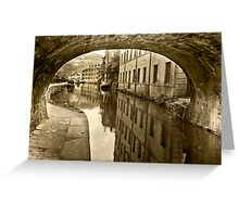 Rochdale Canal, Hebden Bridge Greeting Card