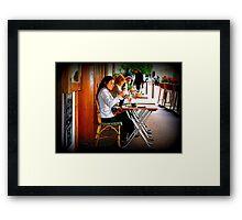 That 'Paris Cafe' Feeling... Framed Print