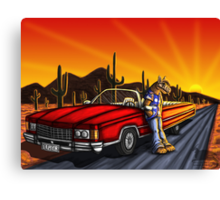 Aliens ride in style  Canvas Print