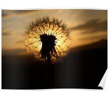Sunset Clock Poster