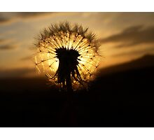 Sunset Clock Photographic Print