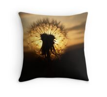 Sunset Clock Throw Pillow